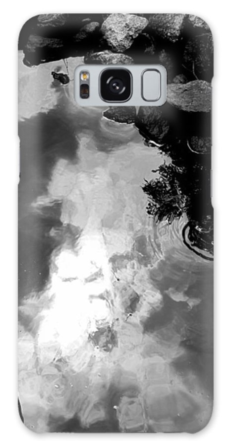 Black And White Galaxy S8 Case featuring the photograph Stoney Reflections by Michele Nelson