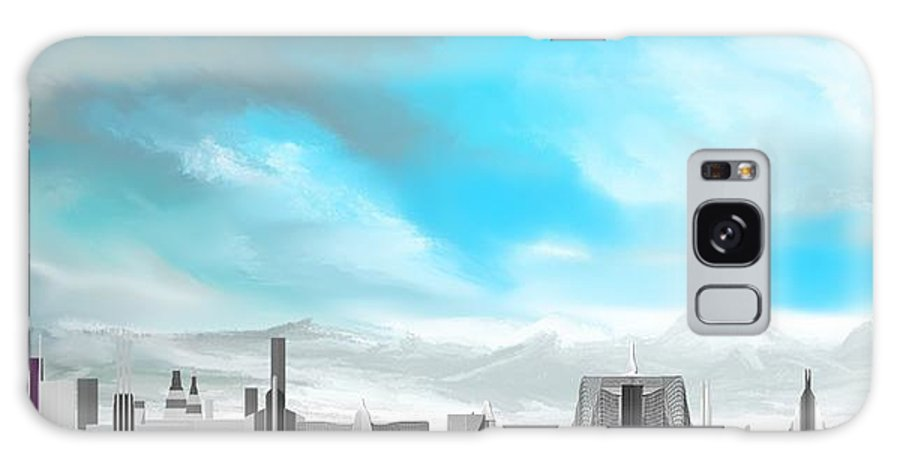 Fine Art Galaxy S8 Case featuring the digital art Storm Approachs Strange City by David Lane
