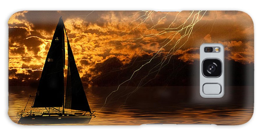 Sunset Galaxy S8 Case featuring the digital art Storm Brewing by Cindy Haggerty