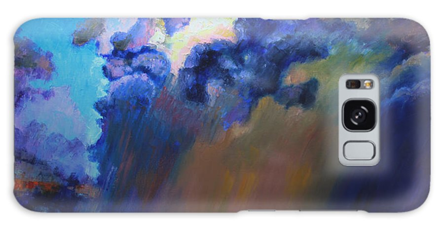 Storm Clouds Galaxy S8 Case featuring the painting Storm Clouds Over Missouri by John Lautermilch