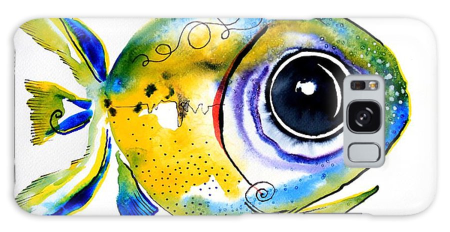Fish Galaxy S8 Case featuring the painting Stout Lookout Fish by J Vincent Scarpace