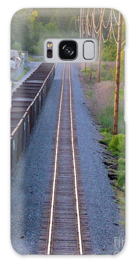 Railroad Galaxy S8 Case featuring the photograph Straight Line by Mark Dodd