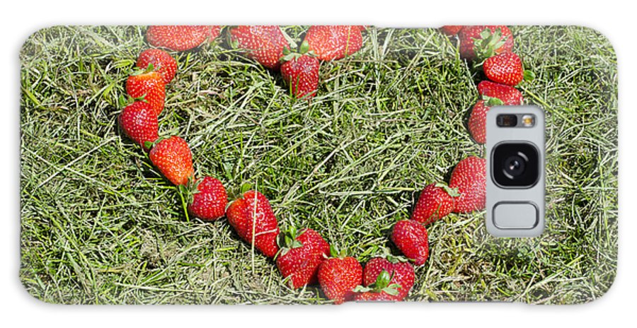 Heart Galaxy S8 Case featuring the photograph Strawberry Heart by Mats Silvan