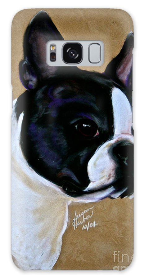 Dog Galaxy S8 Case featuring the pastel Suede's Grandson by Susan Herber