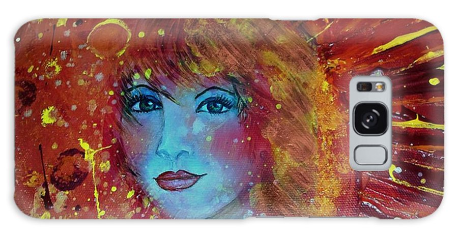 Digital Merge Of One Of My Acrylic Paintings And Oil Portrait Painting.... Galaxy S8 Case featuring the mixed media Sun Goddess by Robin Monroe