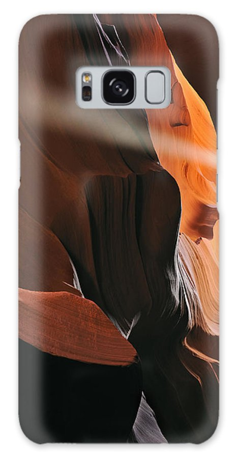 Antelope Galaxy S8 Case featuring the photograph Sunbeam Upper Antelope Slot Canyon by Dean Pennala