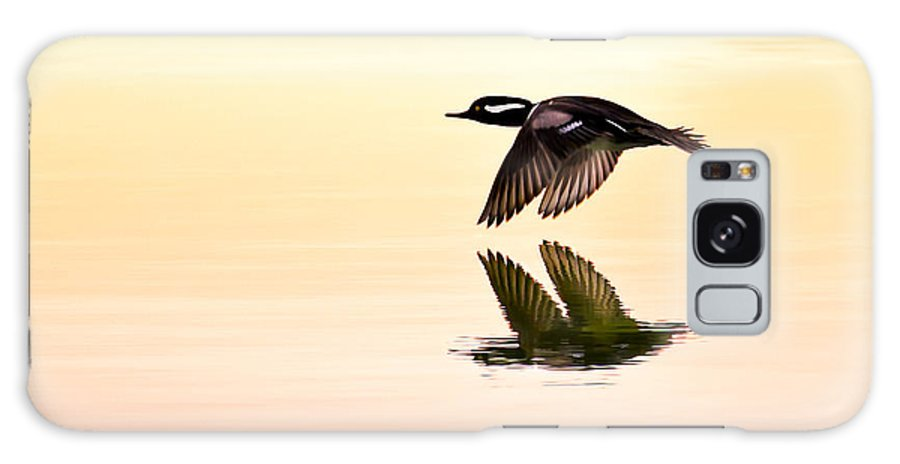 Hooded Merganser Galaxy S8 Case featuring the photograph Sunrise Flight by Janet Fikar