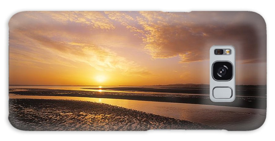 Beach Galaxy S8 Case featuring the photograph Sunrise, Sandymount Strand Dun by The Irish Image Collection