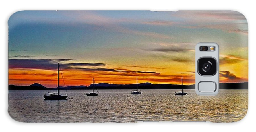 North America Galaxy S8 Case featuring the photograph Sunset At Lake Memphremagog - Qc by Juergen Weiss