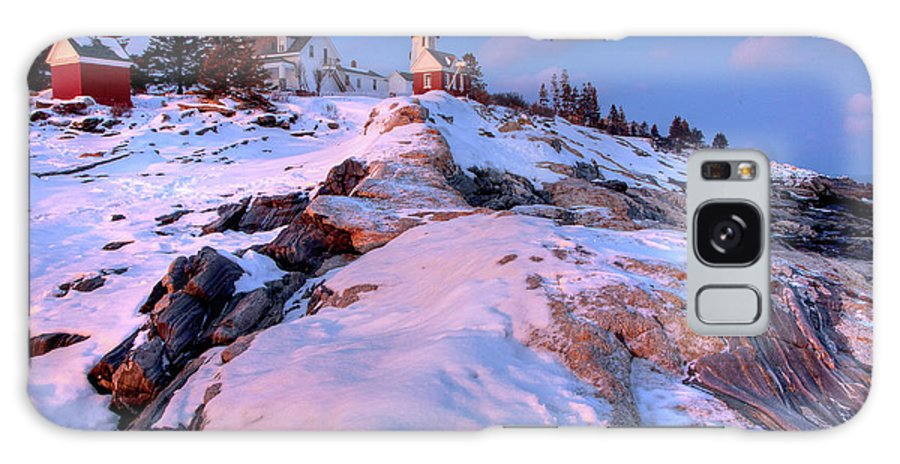 Bristol Galaxy S8 Case featuring the photograph Sunset At Pemaquid by Susan Cole Kelly