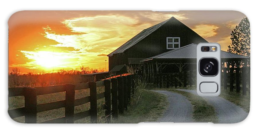 Sunset Galaxy S8 Case featuring the photograph Sunset At The Farm by Christopher Hignite