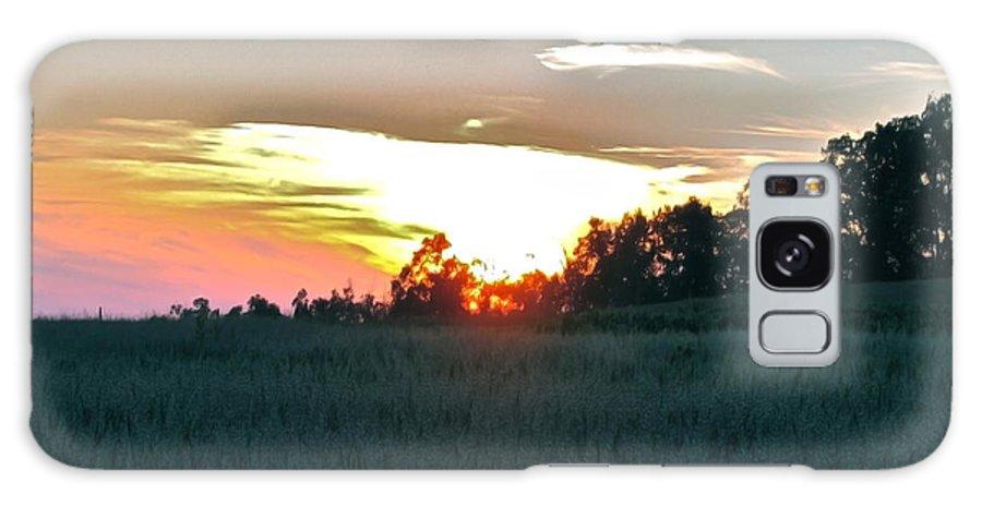 Sunset Fields Galaxy S8 Case featuring the photograph Sunset Fields by Debra   Vatalaro