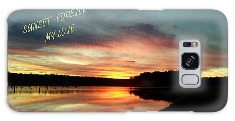 Georgia Galaxy S8 Case featuring the photograph Sunset Forever My Love by Donna Brown