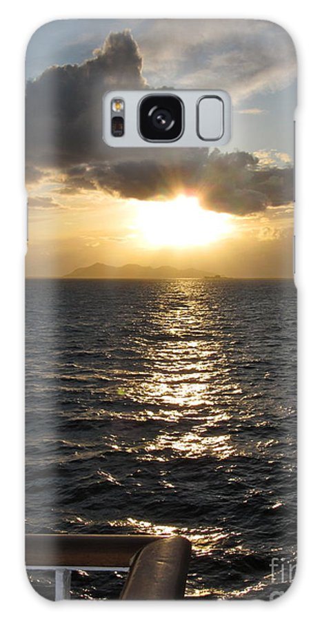 Sunset Galaxy S8 Case featuring the photograph Sunset In The Black Sea by Phyllis Kaltenbach