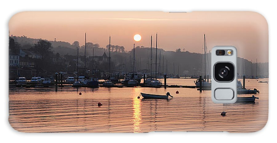Dusk Galaxy S8 Case featuring the photograph Sunset In The Harbor Crosshaven County by Peter Zoeller
