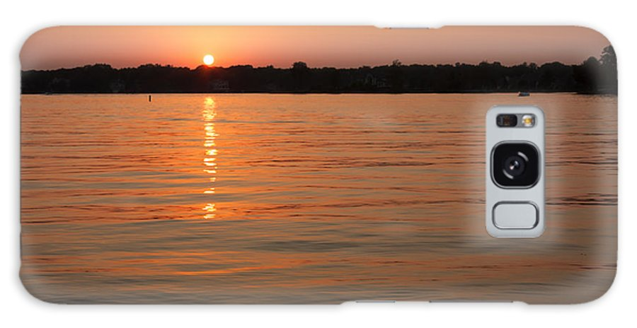 Evening Galaxy S8 Case featuring the photograph Sunset On Geist Reservoir In Lawrence In by Semmick Photo