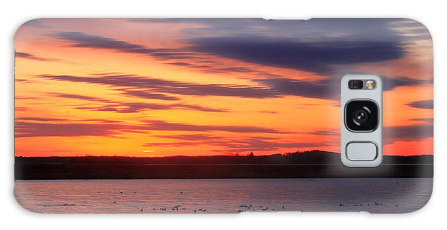 Nature Galaxy S8 Case featuring the photograph Sunset Over Marshes Parker River National Wildlife Refuge by John Burk