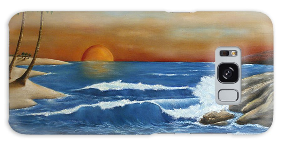 Ocean Galaxy S8 Case featuring the painting Sunset by Walter Laing