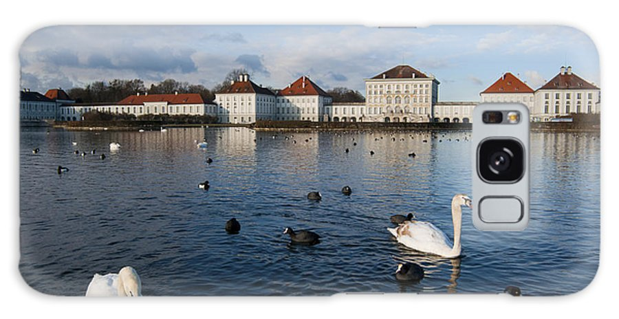 Bavaria Galaxy S8 Case featuring the photograph Swans Seen At Nymphenburg Palace by Andrew Michael