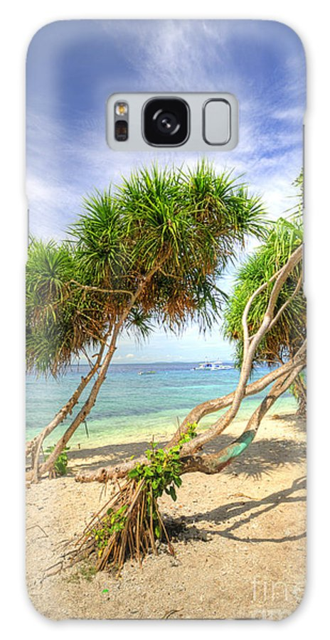 Yhun Suarez Galaxy S8 Case featuring the photograph Swaying Palm Trees by Yhun Suarez