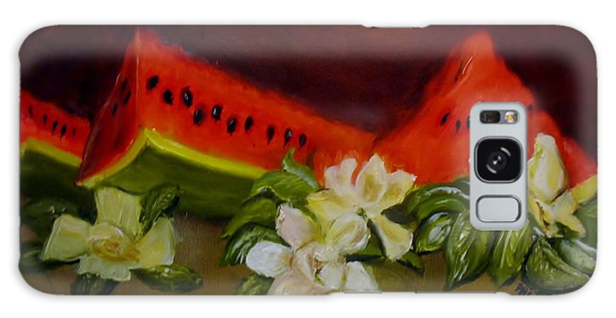 Watermelons Galaxy S8 Case featuring the painting Sweet And Delicate by Phebe Smith