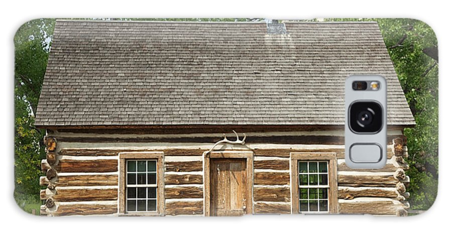 Past Galaxy S8 Case featuring the photograph Teddy Roosevelt's Maltese Cross Log Cabin by John Stephens