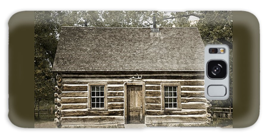 Past Galaxy S8 Case featuring the photograph Teddy Roosevelt's Maltese Cross Log Cabin Retro Style by John Stephens
