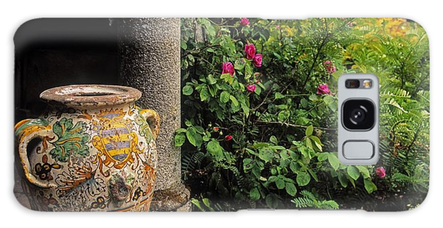 Co Wexford Galaxy S8 Case featuring the photograph Temple And Garden Urn, The Wild Garden by The Irish Image Collection