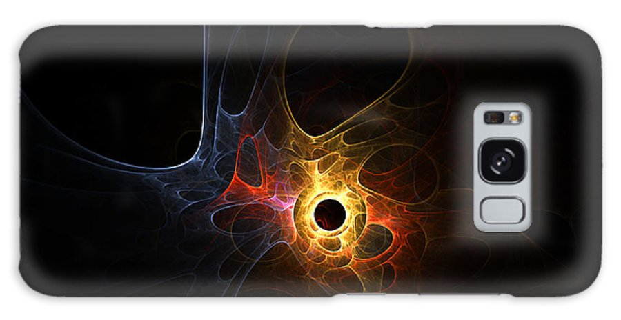 Fractal Abstract Light Lights Plasma Cosmic Universe Expressionism Impressionism Modern Art Color Colorful Motion Energy Bubble Bubbles Hole Holes Space Outer Galaxy S8 Case featuring the digital art Terra Nova by Steve K