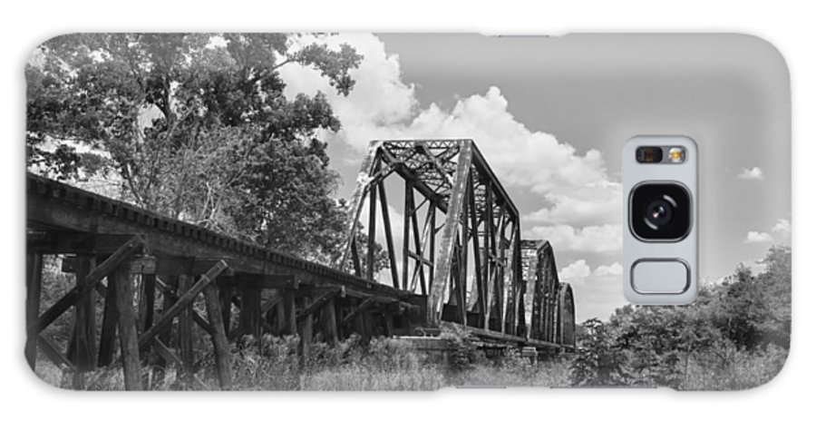 Bridges Galaxy S8 Case featuring the photograph Texas Railroad Bridge by Guy Whiteley