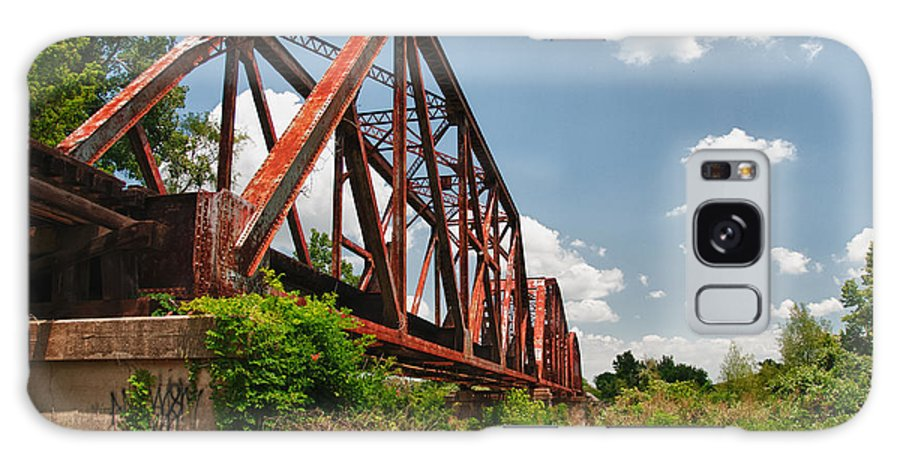 Bridges Galaxy S8 Case featuring the photograph Texas Train Trestle 13984c by Guy Whiteley