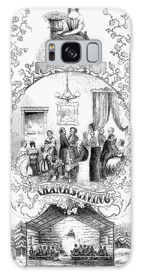 1852 Galaxy S8 Case featuring the photograph Thanksgiving, 1852 by Granger