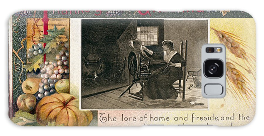 1909 Galaxy S8 Case featuring the photograph Thanksgiving Card, 1909 by Granger