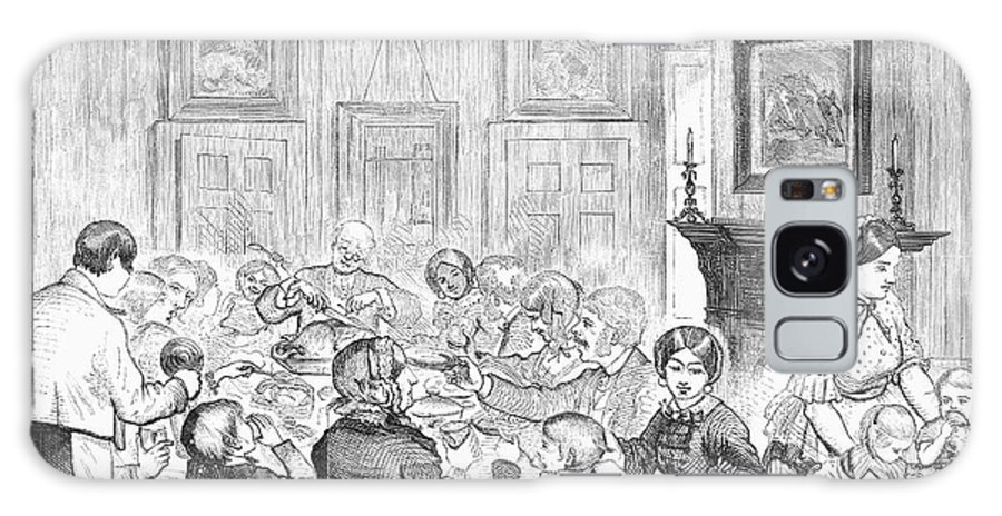 1857 Galaxy S8 Case featuring the photograph Thanskgiving Dinner, 1857 by Granger