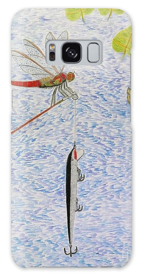 Fishing Galaxy S8 Case featuring the drawing The Allure Of The Rod by Gerald Strine