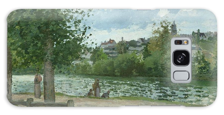 The Galaxy S8 Case featuring the painting The Banks Of The Oise At Pontoise by Camille Pissarro