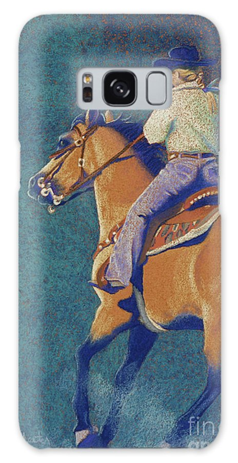 Buckskin Galaxy S8 Case featuring the pastel The Buckskin by Tracy L Teeter