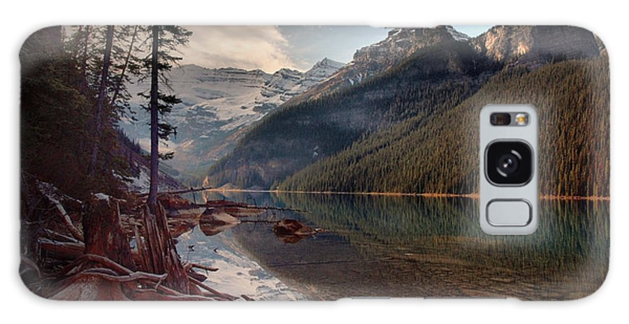 Mountains Galaxy S8 Case featuring the photograph The Calm At Lake Louise by Tara Turner