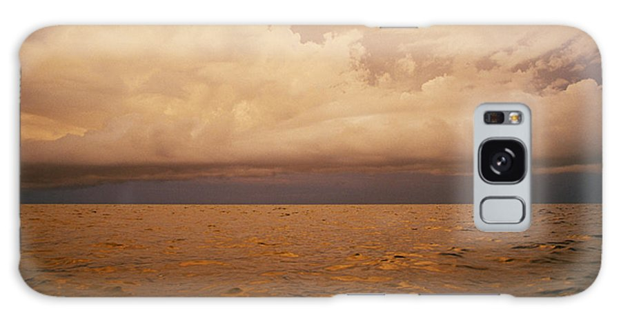 Atlantic Ocean Galaxy S8 Case featuring the photograph The Caribbean Sea Reflects The Sunset by Stephen Alvarez