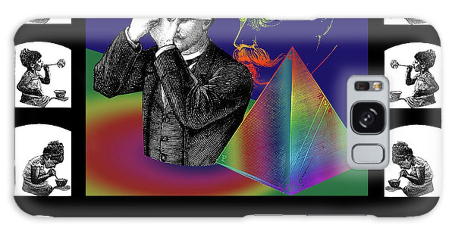Digital Collage Galaxy S8 Case featuring the digital art The Confession by Eric Edelman