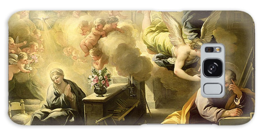 Saint Galaxy S8 Case featuring the painting The Dream Of Saint Joseph by Luca Giordano