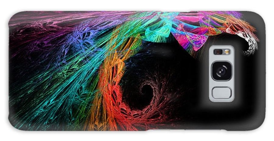 Andee Design Abstract Galaxy S8 Case featuring the digital art The Eagle Rainbow by Andee Design