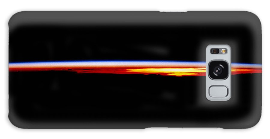 Atmosphere Galaxy S8 Case featuring the photograph The Earth's Atmosphere At Sunrise Seen From Orbit by Nasa