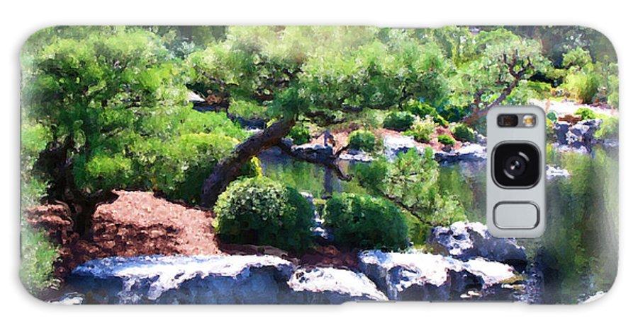 Garden Galaxy S8 Case featuring the painting The Garden by Brenda Deem