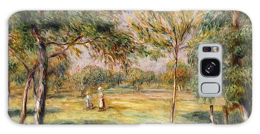 Impressionist; Impressionism; Countryside; Landscape; Tree Galaxy S8 Case featuring the painting The Glade by Pierre Auguste Renoir