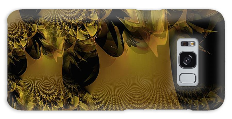 Golden Galaxy S8 Case featuring the digital art The Golden Mascarade by Maria Urso