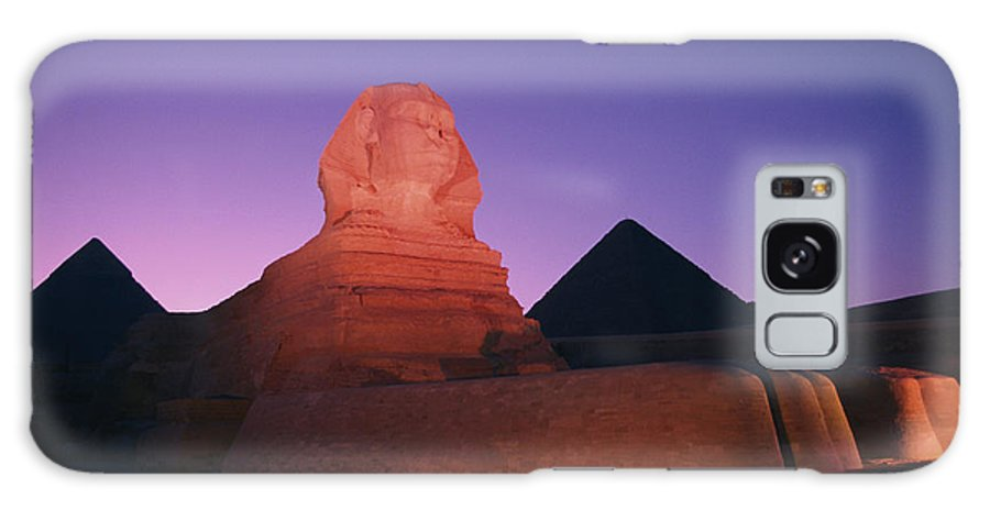 Pyramids Of Giza Galaxy S8 Case featuring the photograph The Great Sphinx Is Illuminated by Richard Nowitz