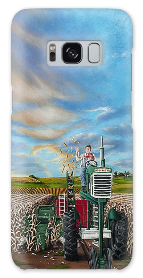 Nebraska Galaxy S8 Case featuring the painting The Journey Of A Farmer by Cindy D Chinn