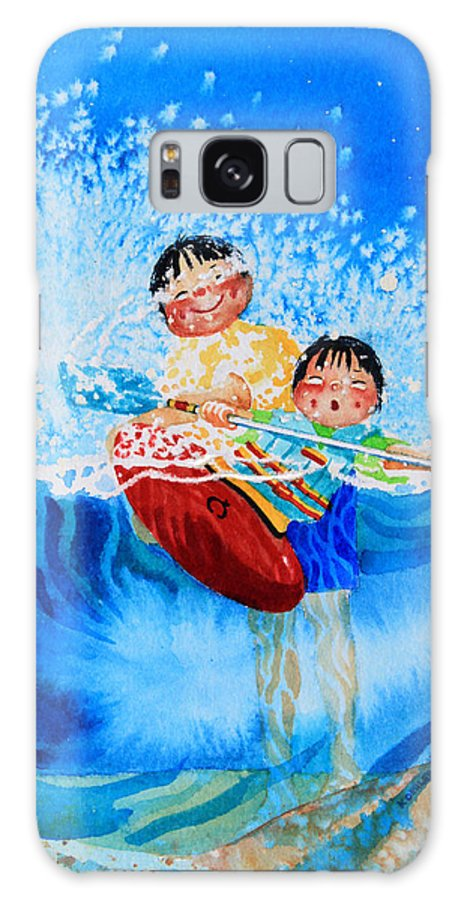 Olympic Picture Book Galaxy S8 Case featuring the painting The Kayak Racer 10 by Hanne Lore Koehler