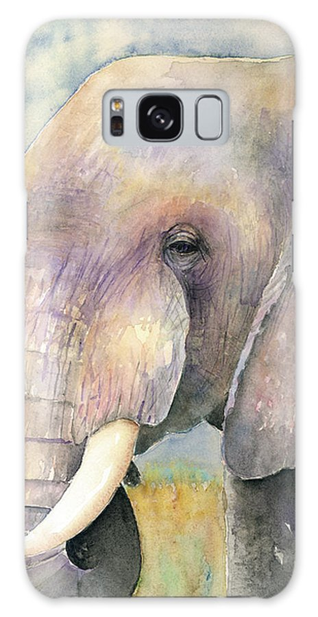 Elephant Galaxy S8 Case featuring the painting The Old Bull by Arline Wagner